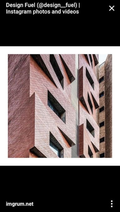 Building facade. World wide recognice on the architectural desing comunity