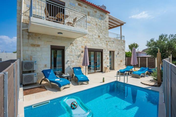 Villa Rebecca Agia Marina , Private pool, Sea View