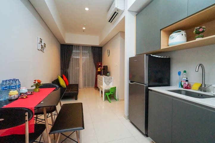 New, Clean, Cozy 3BR Apt@ Taman Anggrek Residence