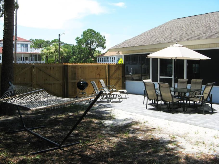 Enjoy the Outdoors on the Shaded Hammock, Meals on the Patio or a Soak in the Hot Tub