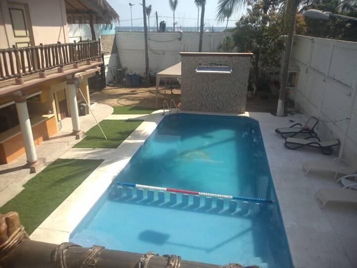Habitación 2; Casa en Pie de la Cuesta Acapulco