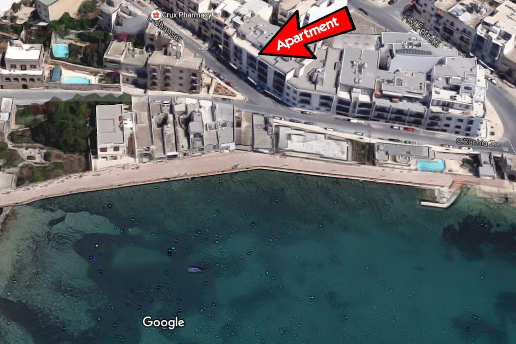 Actual Location of Apartment.
