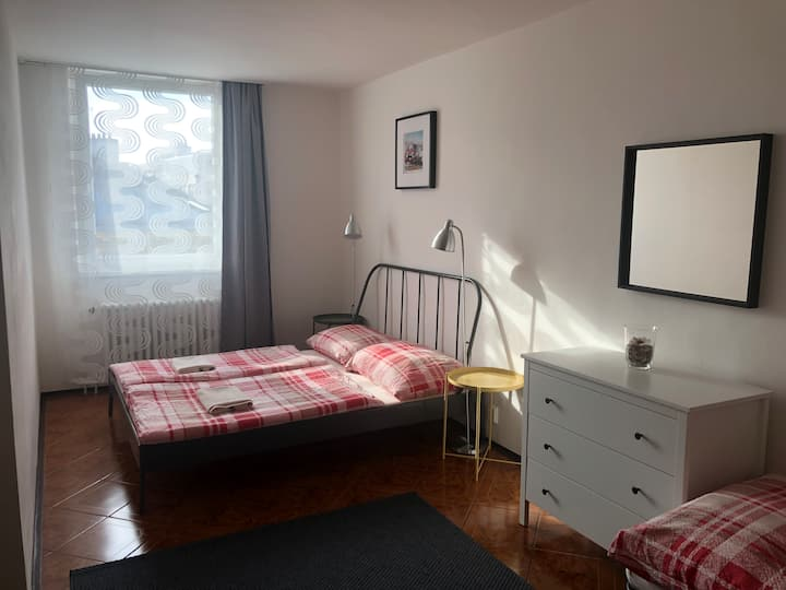 Private&New room for 2-3 people by Wenceslas sq.