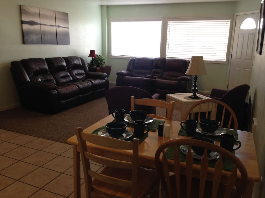 Dining area just off the living room.