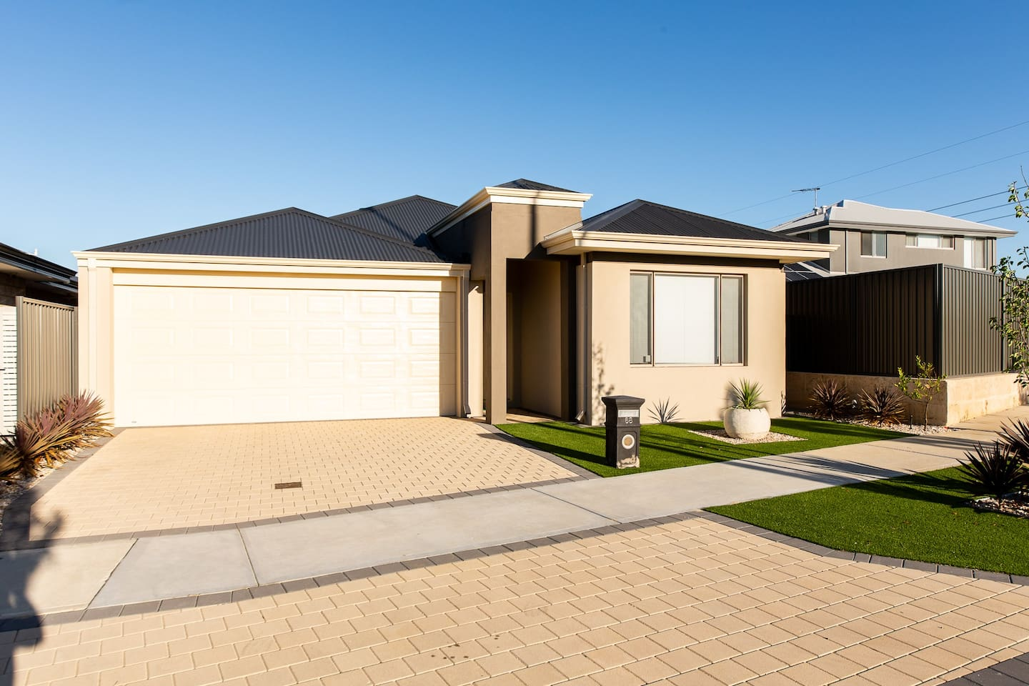 Front of the house: Two car parking spaces on the driveway