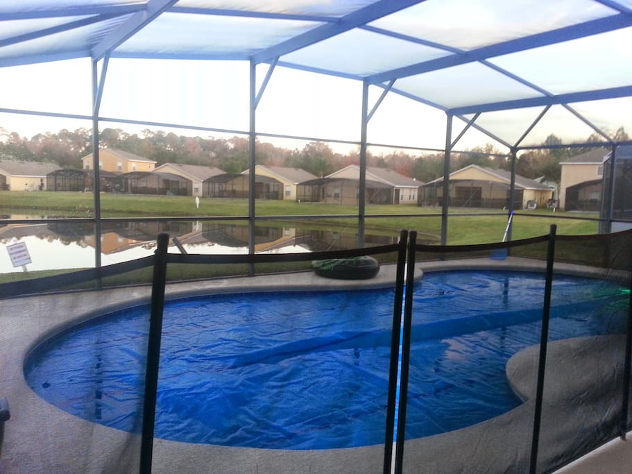 Pool fence to keep our young guests safe