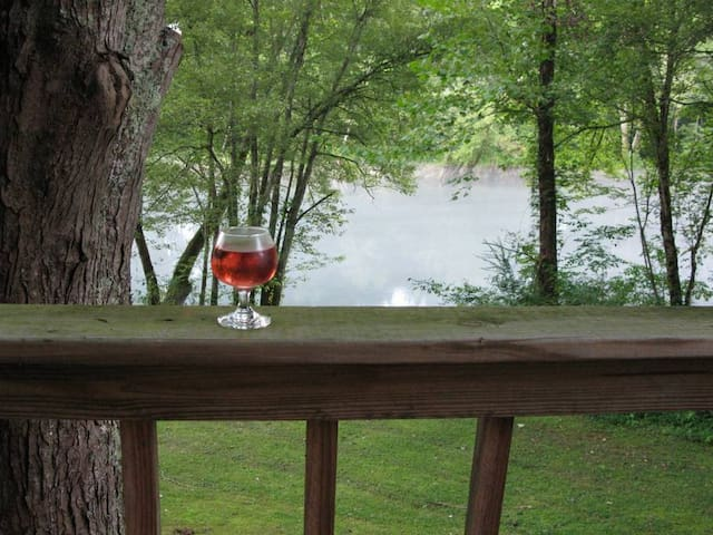 Enjoy a glass of wine as your cares float down the river.