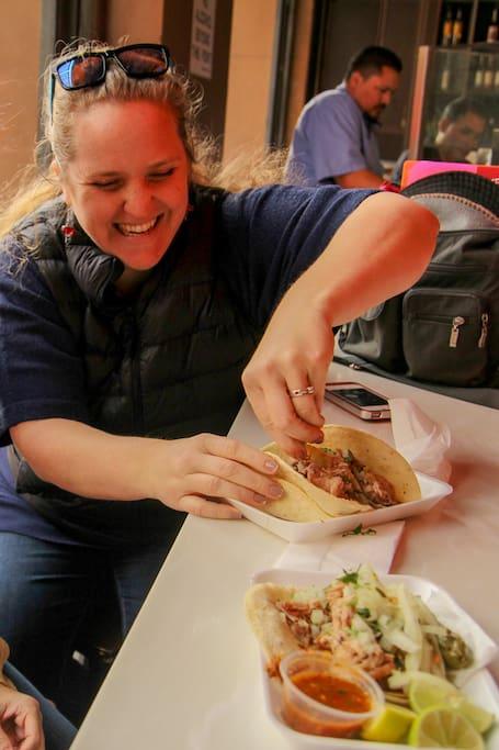 Enjoy a taco!