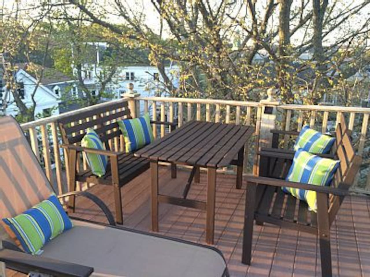 Private rooftop deck overlooks Commercial Street and the Bay!