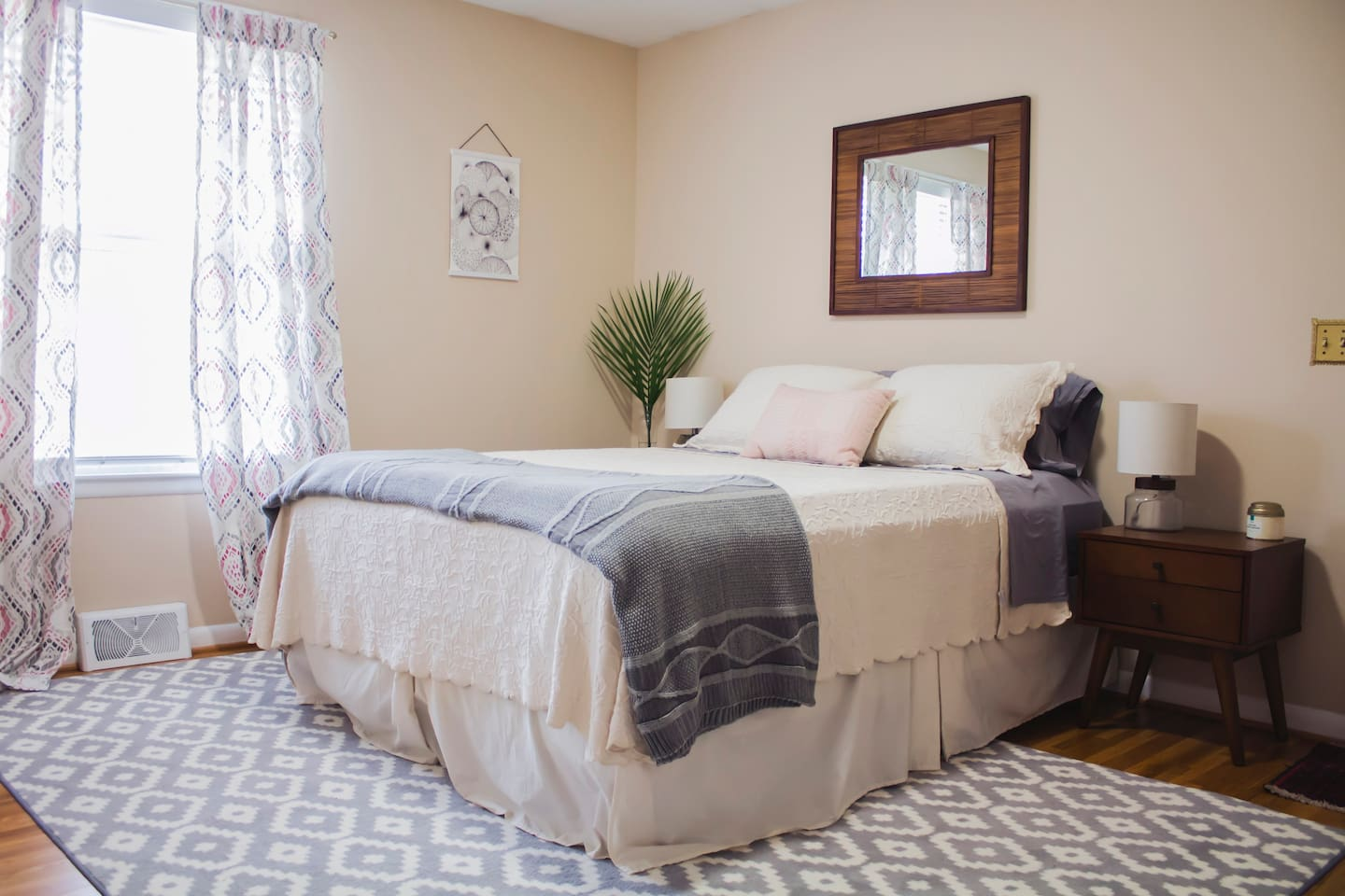 Your room! Cozy organic cotton sheets ensure a great night's sleep!