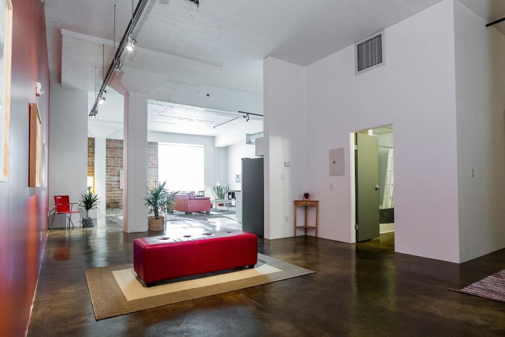 Unique 1324 square feet of open-concept living space.