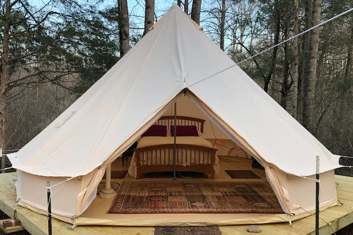 Creekside 'Glamping' Tent