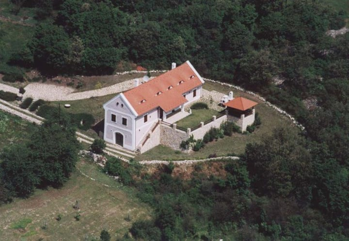 Gella Country House on the hill, view of Balaton