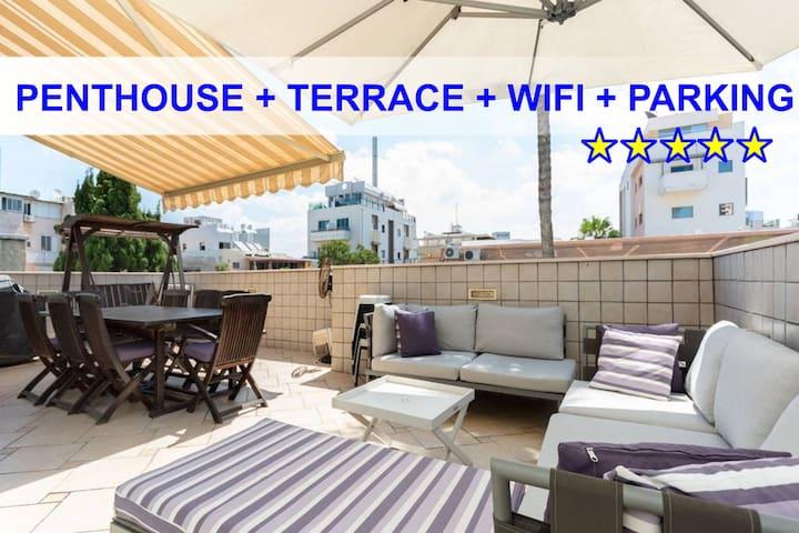 PENTHOUSE 160M²+TERRACE + PARKING+WIFI  GORDON