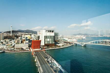 ☆Family Suit Room☆ Amazing Harbor View☆ - Yeongdo-gu - Lägenhet