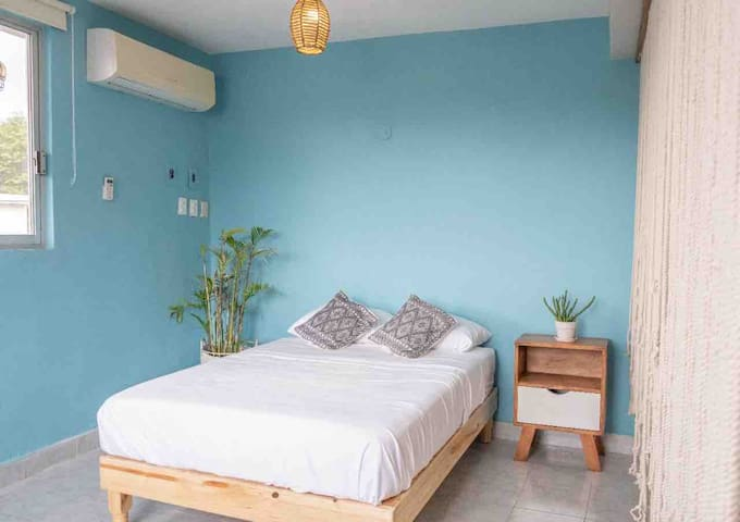The room is quite comfortable with AC. It has a double size bed, comfy pillows and soft sheets.