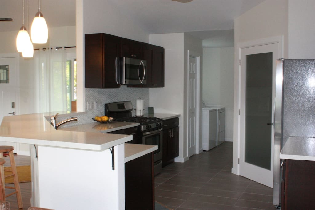 Spacious Kitchen/Laundry.  All New Appliances