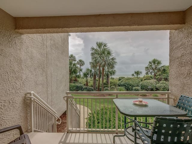 Main Balcony off Living Room with Direct Ocean Views at 462 Captain`s Walk
