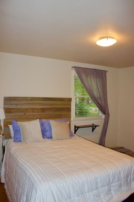 Lots of natural light and a comfortable Queen bed