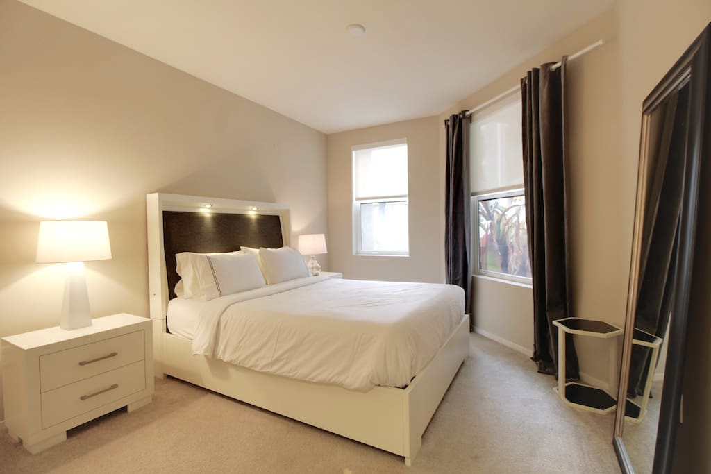 Master Bedroom with Queen Bed + Queen Air-Bed (Sleeps 2 Guests)
