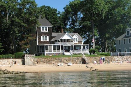 Vintage Shoreline Cottage with Sandy Beach