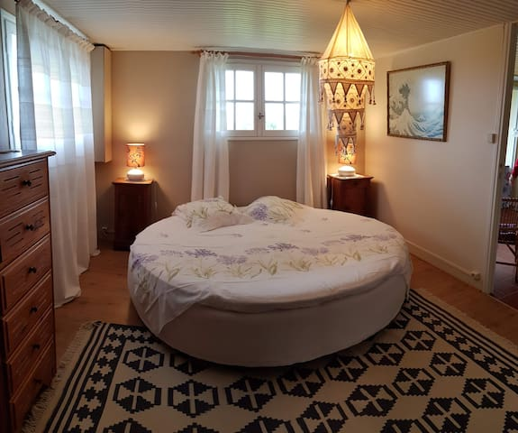 Appartement 55 m², jardin privé à 100m de la plage