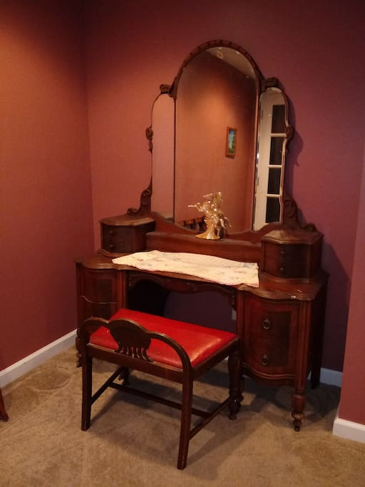 Antique dressing table in your room (please don't place cold drinks on it, as it will leave a mark)