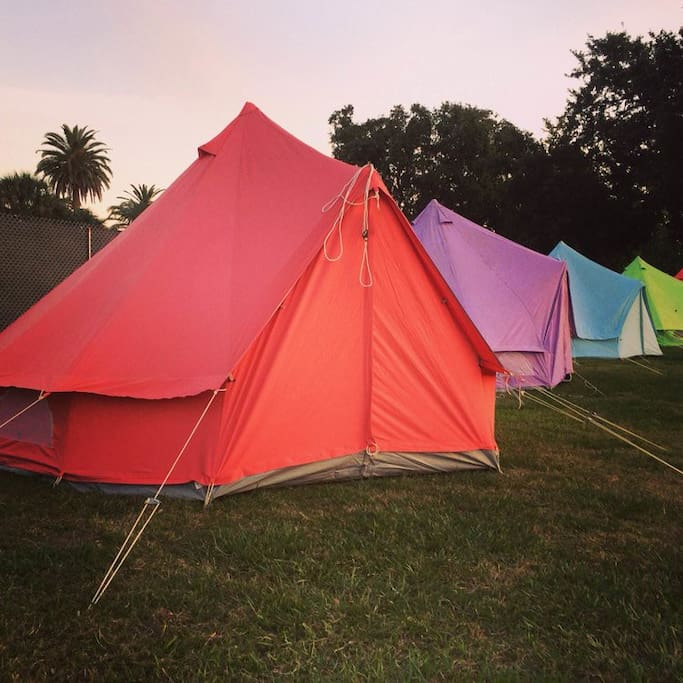 Colorful Tents!