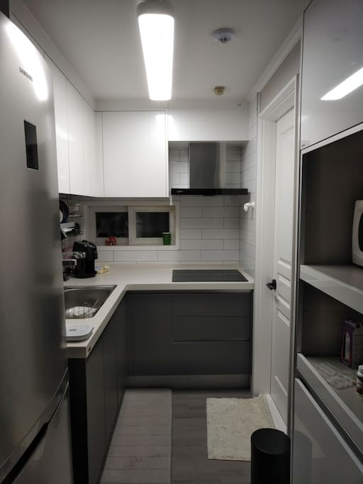 This is the common kitchen you can use.