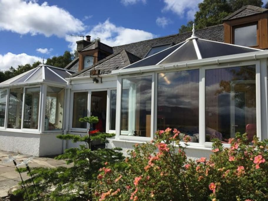Conservatories with views of the cairngorms