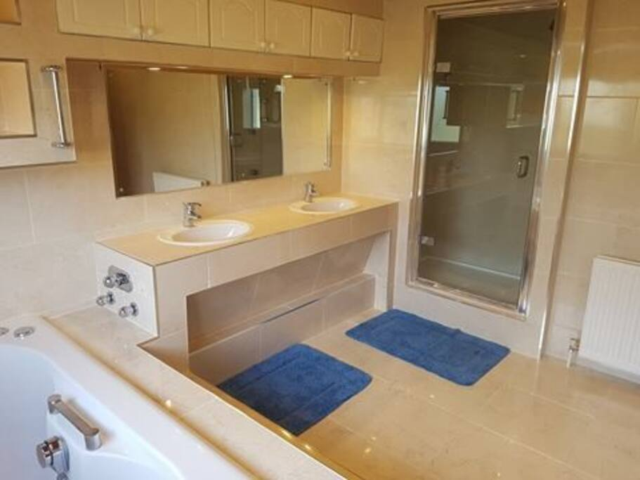 Double Vanity Unit / Power Shower
