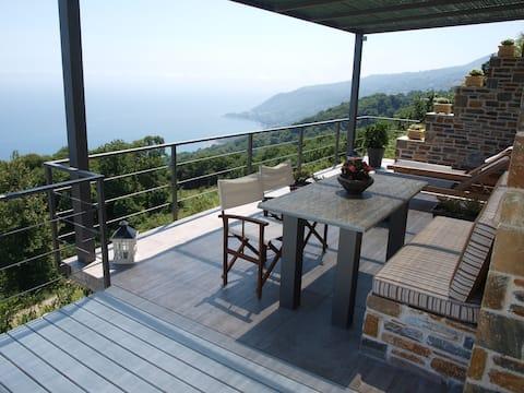 Forest Inn - the magic view of Aegean sea