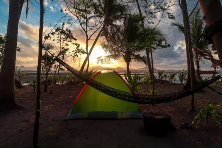 Peaceful sea view tent