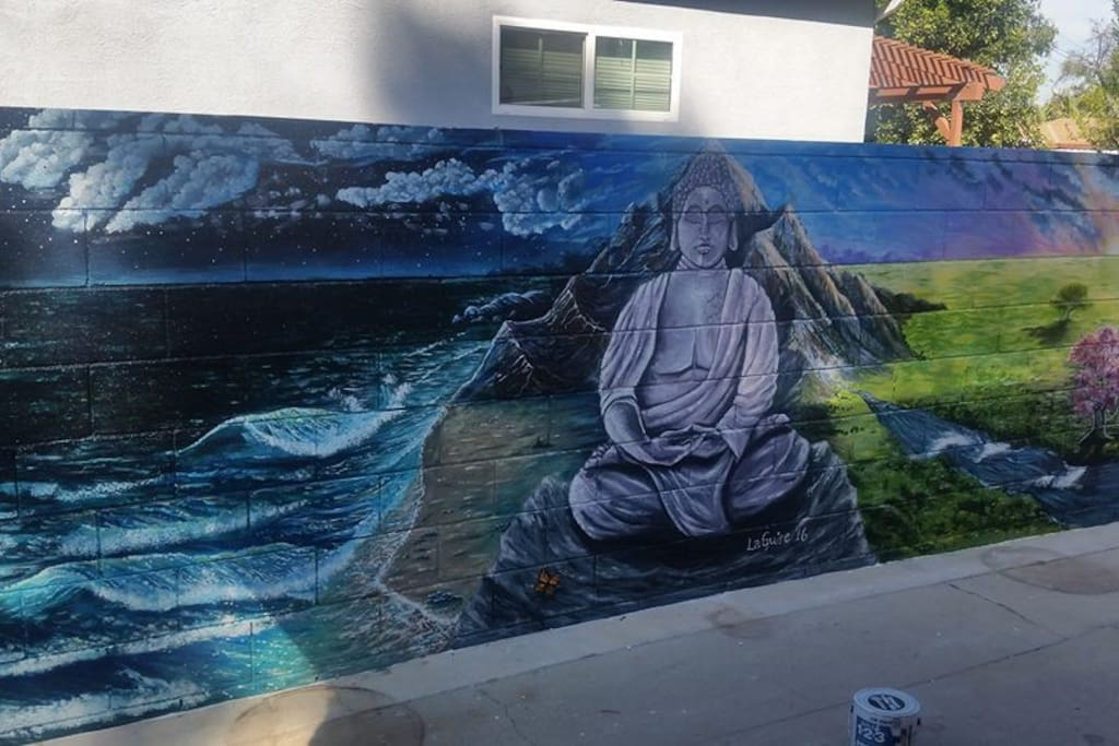 Buddha Mural perfect for peaceful contemplation