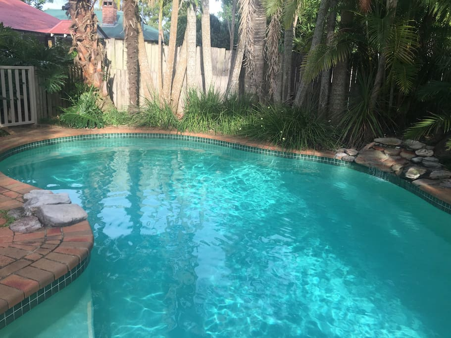Relax by our saltwater pool