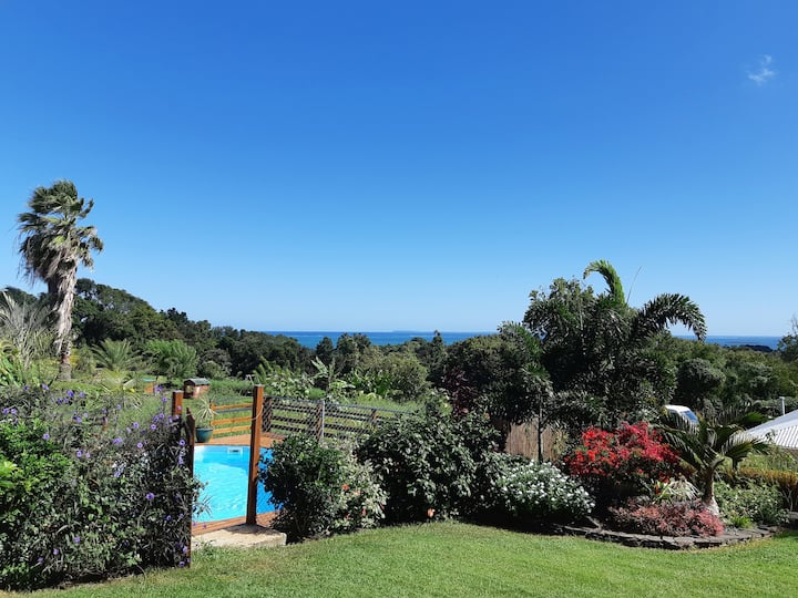 Au jardin d'Éole - Villa bois avec piscine vue mer