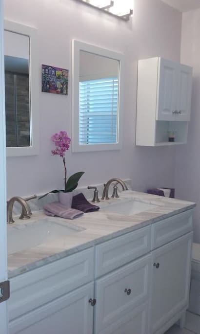 New private guest bathroom