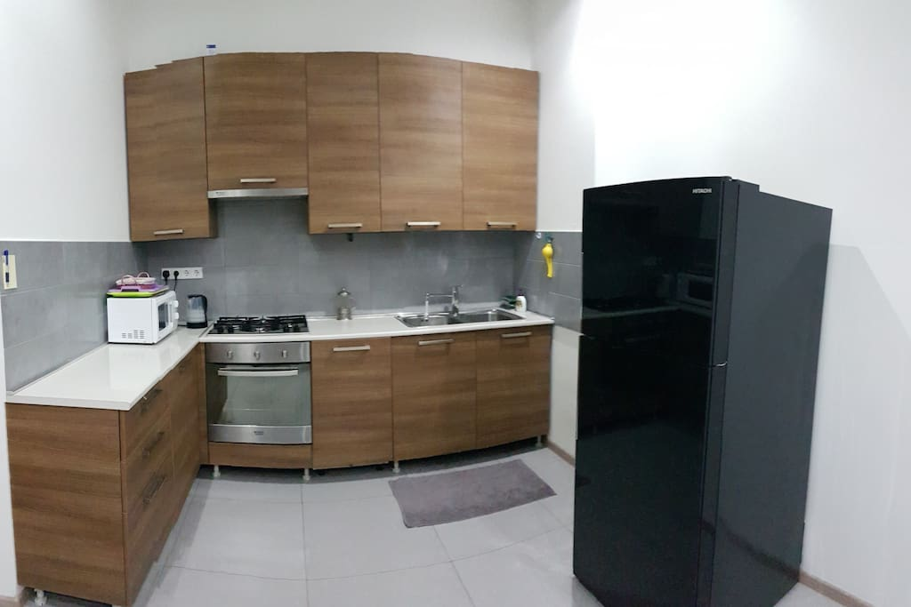 Fully equipped kitchen with everything a kitchen need.