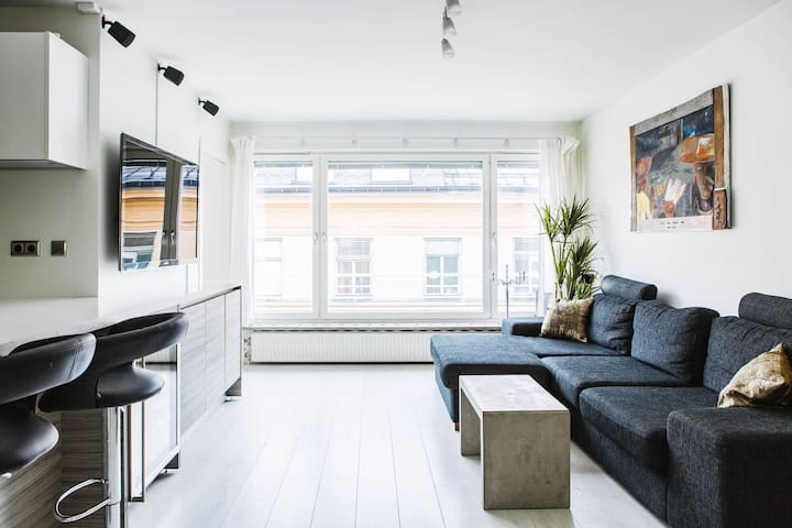 Central luxury 1BR close to subway - Stockholm