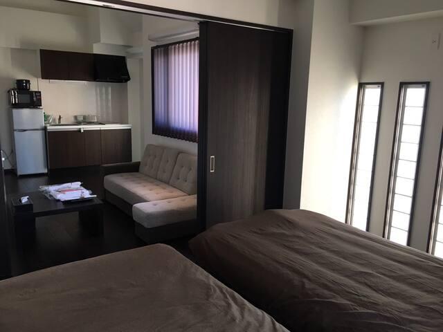 【那覇市・新都心】R502 家具・キッチン・家電完備のコンドミニアム形式の宿泊施設です - Naha-shi - Apto. en complejo residencial