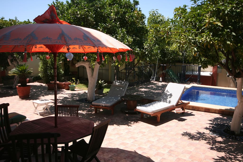 La piscine et ses terrasses