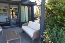 Le salon d'une terrasse