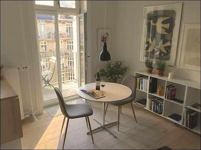 A light and super central apartment in Copenhagen