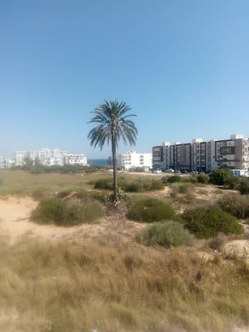 Appartement standing vue mer Sousse .