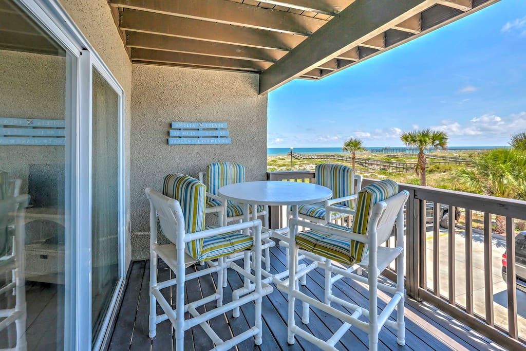 Catch the sunrise with a hot cup of coffee from the condo's private balcony.