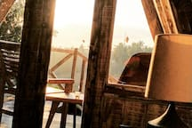 Basque in bed in the warm light of a perfect Bali sunrise, then pull the curtains and sleep until noon