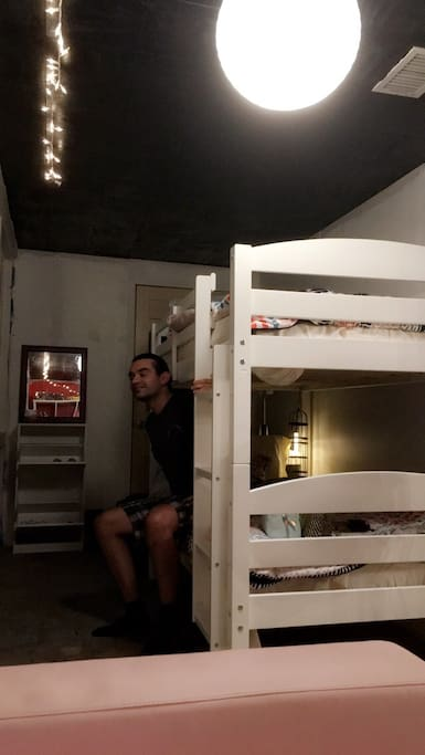 Comfortable bunk bed will be assigned to you upon arrival!