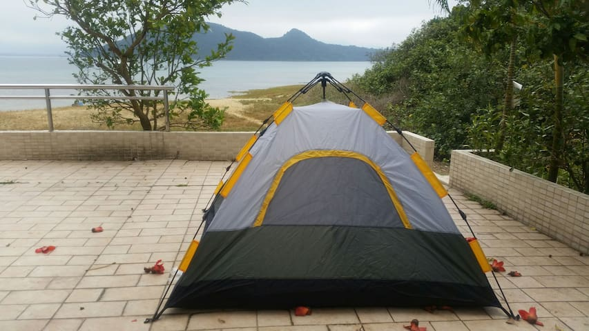 Amazing budget wide coastal view camp - Tai Po