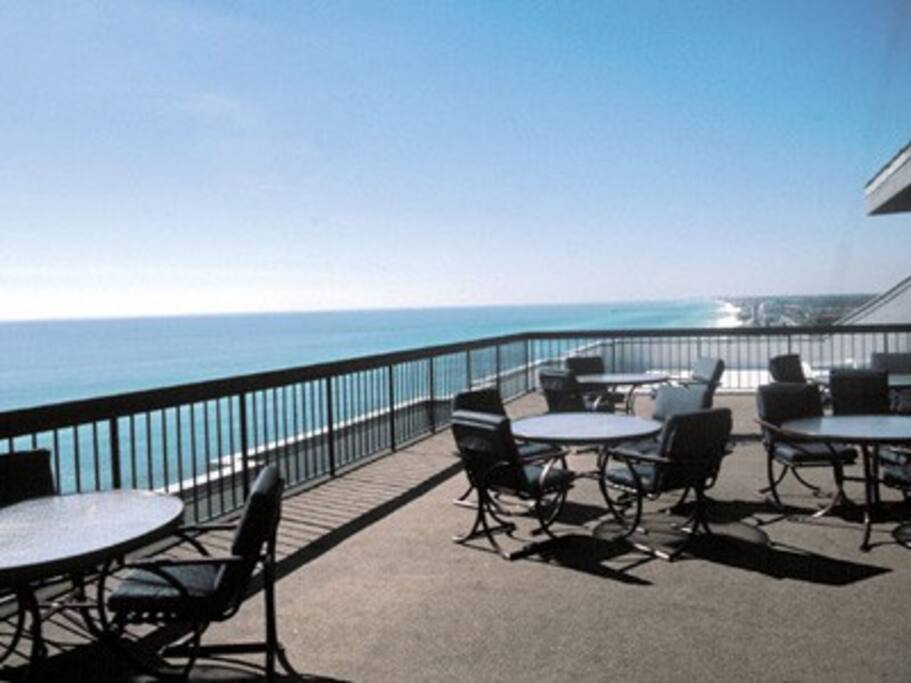 Resort balcony.