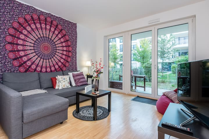 modern 3 room apartment with good equipment